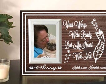 Pet memorial frame - dog memorial - pet loss gift - pet remembrance - pet memorial picture frame - dog memorial gift - pet sympathy gift
