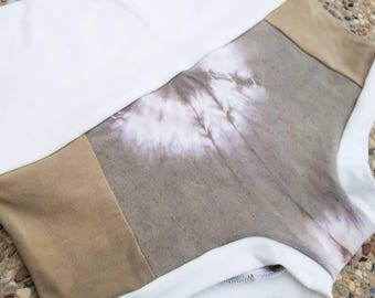 OOAK XS/SM Olive Green Herbal Dyed Hemp/Bamboo blend Booty Shorts