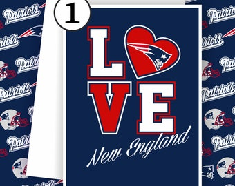 New England Patriots Card -Patriots Fan, Football Team Card, New England Patriots,Football Greeting Card