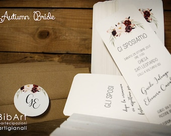 Participation invitation wedding Marsala