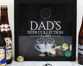 Personalised Beer Lovers Beer Cap Collection Box for Craft Ale Fanatics