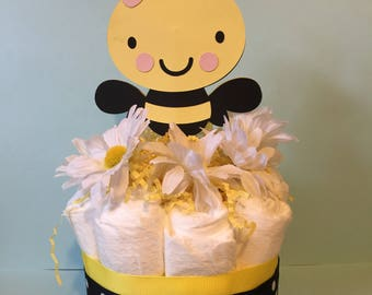 Mommy To Bee Mini Diaper Cake