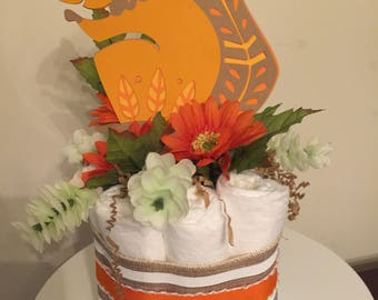 Woodland Squirrel Mini Diaper Cake