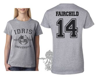 Fairchild 14 Idris University on Women tee Sport Grey