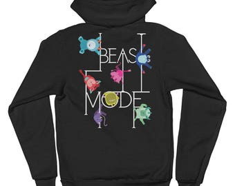 Pole Dance Zip Up Fleece Hoodie || Beast Mode
