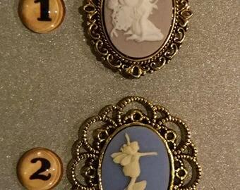 Fairies, Refrigerator Magnet, Fridge Magnet, Kitchen Magnet, Fairy Theme, Fantasy, Kitchen Decor, Cameo Fairy Magnet, Gift Magnet, Handmade