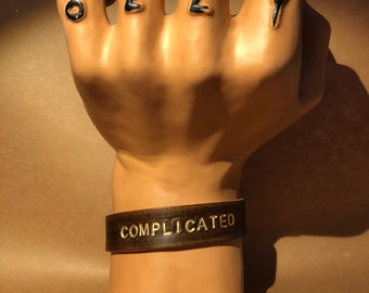 Complicated -- Leather Cuff Bracelet