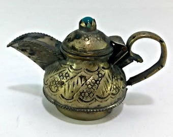 Vintage Moroccan Decorative Small Teapot Handmade