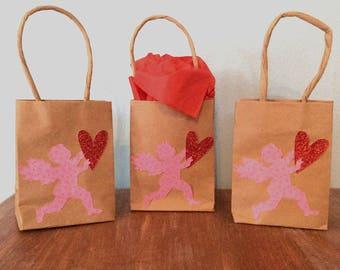 Valentine Gift Bags; Valentine Treat Bags