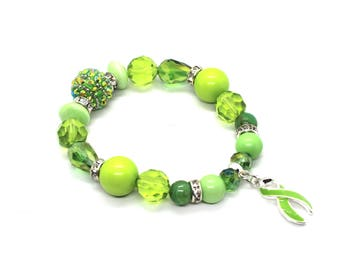 Lymphoma Bracelets - Lymphoma Cancer Gifts - Lymphoma Awareness - Lymphoma Survivor - Lymphoma Gifts - Lymphoma Ribbon - Lymphoma Charm