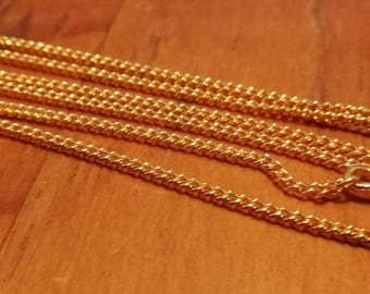 "22"" 18K Flat Curb Gold filled Chains (Pack 10)"