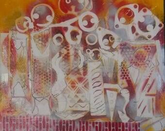 AMAI (MOTHER) Spray Paint on Canvas