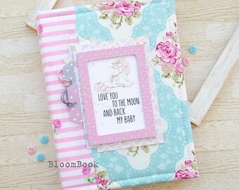 Baby book girl Baby memory book girl unicorn Baby album Baby shower gift Newborn gift Scrapbook album Baby 1st book Baby scrapbook Baby gift