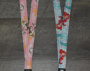 Belle and Ariel Disney Lanyards