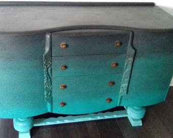 SOLD       Ombre effect sideboard Annie Sloan