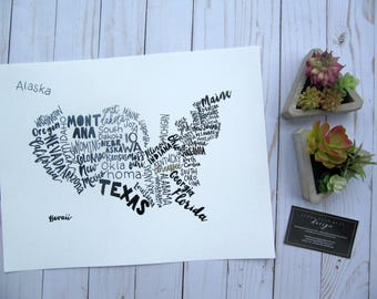 Typography Map - Print