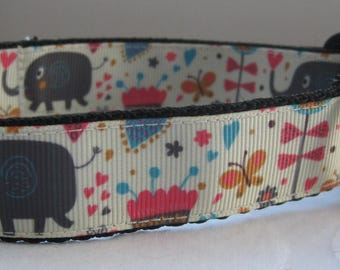 Elephant Dog collar  matching lead available butterfly cute grooming Animals
