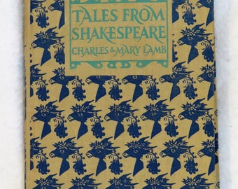 JUST REDUCED!!  Tales From Shakespeare by Charles and Mary Lamb 1957 JM Dent & Sons Pub, Children's Shakespeare,  Shakespeare for Children