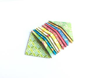 Bookmarks of angle, lot 10 small corner bookmark, special manga, origami paper