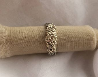 Silver Plated Copper Wire Wrapped Ring