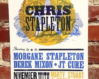 Chris Stapleton Charleston, WV Letterpress Print