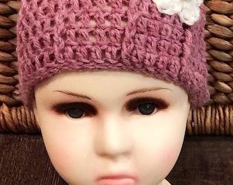Cute crochet toddler hat, great for springtime, Handmade