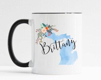 Michigan Mug / Personalized Mug / Custom State Mug / Friend Gift / Michigan Gift /  11 or 15 oz / Going Away Gift / Moving Gift