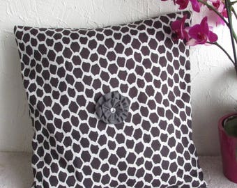Black and white pillow cover, Cushion cover, Cushion cover 40 x 40, home decor