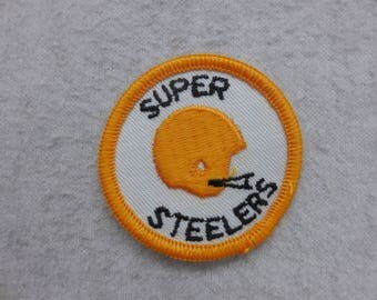 NFL Throwback Super Pittsburgh Steelers  Football Helmet Sew On Patch