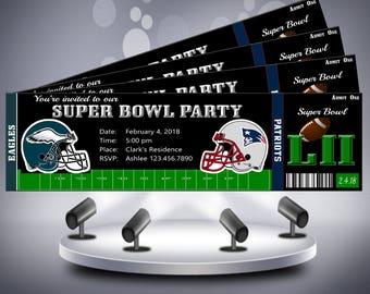 Super Bowl 52 Invitation Ticket