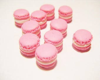 Polymer clay miniature vial treats candy macaroon charms