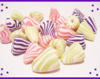 ♥ 23 charms berlingots ♥ polymer clay Fimo beads