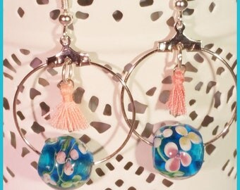 Pompon and Pearl Earrings