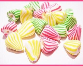 Fimo berlingots charms treats candy kawaii cute polymer clay Blue Bead set