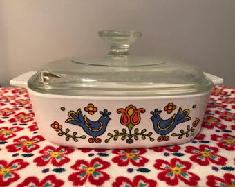 Corning Ware Country Festival Covered Casserole - 1 Quart