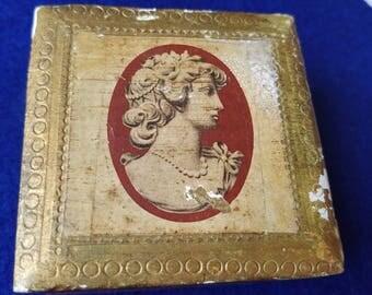 Vintage gold leaf box