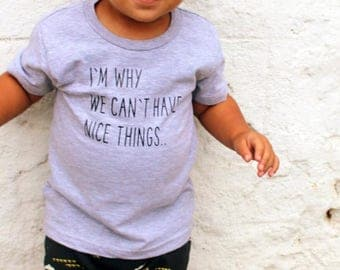 Nice Things - Daddy's Lil Monster - Funny Baby Clothes - Toddler Shirts - Toddler Girl Clothes - Toddler - Kids Shirts - Mamas Mini - baby