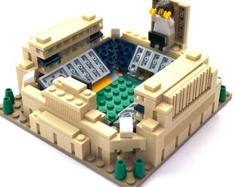 Mini Notre Dame Stadium Custom Brick Set with Printed Instructions