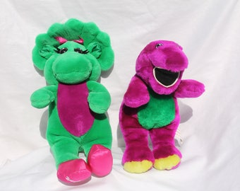Vintage Barney and Baby Bop Plush Doll Toys
