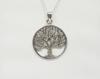 Tree of Life Necklace~Silver Tree Pendant~Tree of Life Jewelry~Celtic Tree~Family Tree~Nature Jewelry~Mens Celtic Jewelry~Gift for Her