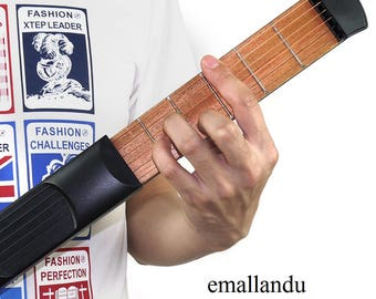 1pc Portable Pocket Guitar Practice Strings Tool Gadget 6 Fret for Beginner