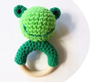 Frog - rattle & teether
