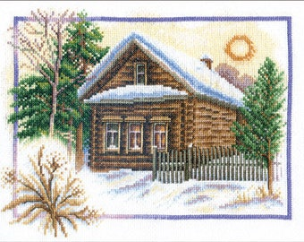 Counted Cross Stitch Kit Rural Winter art. PS-0333