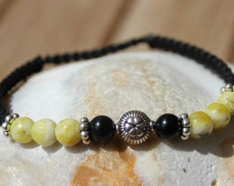 Yellow turquoise shamballa bracelet