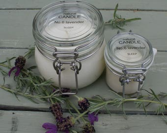 NO6 Natural Candle Essential Oils Lavender