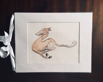 "Carpe Diem Tesla - 8""x10"" Physical Print of Greyhound Illustration"