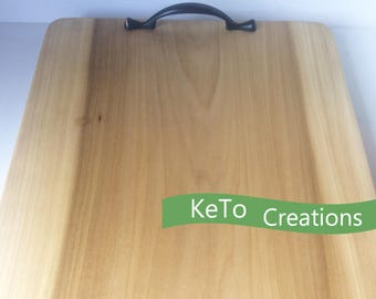 Wooden Poplar Serving Tray, Kitchen Board With Handles