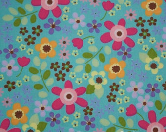 Cotton Fabric - Rose and Hubble - Flower Power - Quilting, Sewing, Patchwork - UK Seller - Fat Quarter, Half Metre, Metre