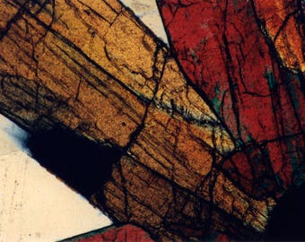 Mineral Photography Prints on Canvas and Paper - Thin Section Photos - MineralPhotos