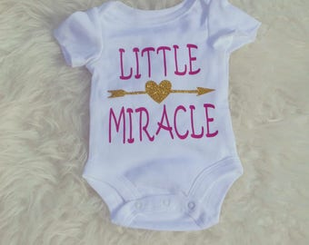 Little Miracle Bodysuit, Onesie, Custom Onesie, Made to Order